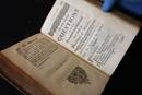 "1720 copy of ""A Complete Method of Studying Divinity."" Photo by Kathleen Barry, United Methodist Communications"