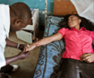 Malaria patient is treated inside the United Methodist Church Clinic in Mulunguishi, DRC. A photo by Paolo Patruno, UMCOR.