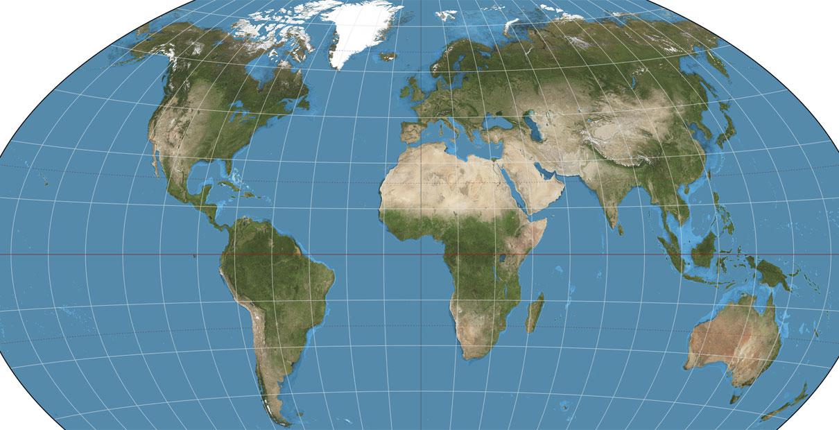 World map, courtesy of Wikipedia Commons.