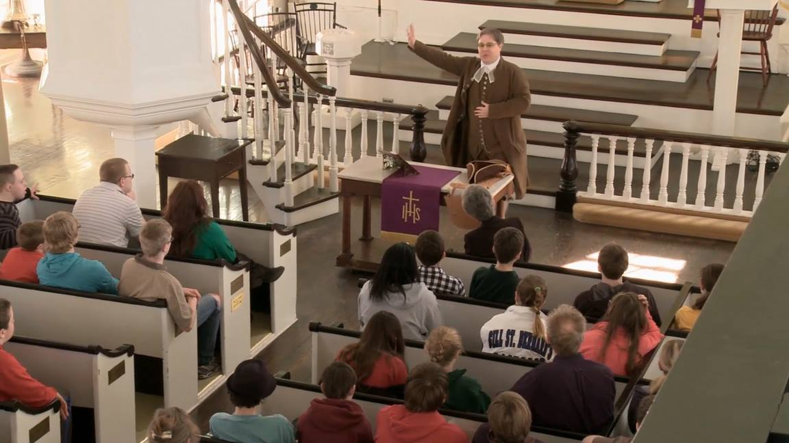 Historic St. George's United Methodist Church has been called one of the sites all United Methodists should see because it has been a Methodist house of worship continually since 1769. Video image by Jess Warnock, courtesy of United Methodist Communications.