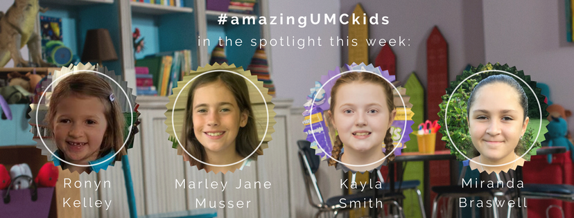 Miranda, Ronyn, Marley Jane and Kayla were featured on The United Methodist Church Facebook page as part of summer 2017's #AmazingUMCKids campaign.