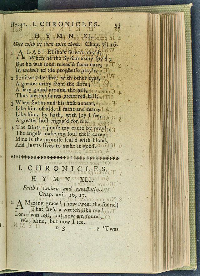 Les méthodistes unis chantent souvent sur la grâce justificatrice de Dieu en utilisant les mots de 'Amazing Grace', de John Newton. La photo est hébergée à la Bibliothèque du Congrès des États-Unis, domaine public, via Wikimedia Commons.