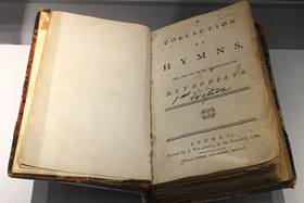 An early Methodist hymnal, first published in 1780.