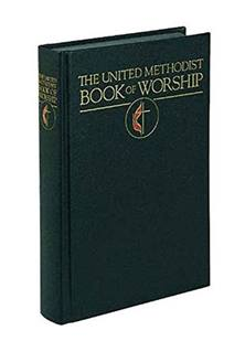 This helpful United Methodist denominational book of liturgy, prayer, services and service music is indispensable for pastors, musicians, and laypersons that plan and lead worship. Image courtesy of Cokesbury.com.