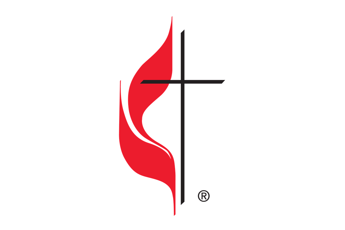 The cross and flame is the official logo of The United Methodist Church.