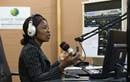 Viviane Daho broadcasts from The United Methodist Church's Voice of Hope radio station in Abidjan, Côte d'Ivoire.