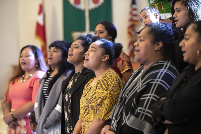 Although attending many different schools the young adults have formed close bonds through The United Methodist Church and enjoy worshipping together in song.