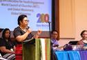 The church needs to be creative if it wants to engage young people as the future of mission, said Joy Eva Bohol, a United Methodist on the staff of the World Council of Churches. Photo by Jennifer Silver, Global Ministries.