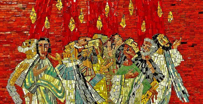 Celebrar Pentecostés con su familia puede ser una experiencia de aprendizaje espiritualmente satisfactoria. En Pentecostés, los discípulos recibieron el Espíritu Santo con un viento fuerte y lenguas individuales de fuego. Foto de pixabay.com.
