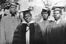 Mary McLeod Bethune with the 1928 graduating class of Bethune-Cookman College. Courtesy of Florida State Library and Archives.
