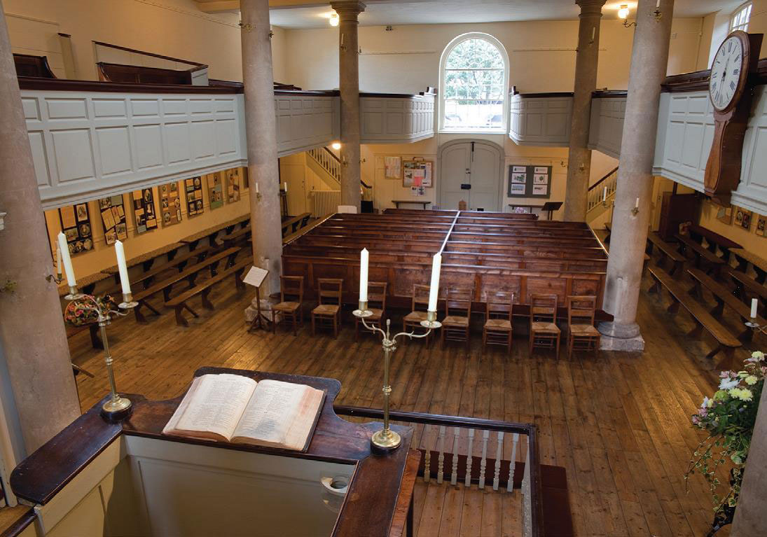 A view from the pulpit where John Wesley once preached at  The New Room in Bristol, England. Courtesy of TimE Photography/TMCP.