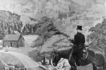 Image of a circuit rider, courtesy of the General Commission on Archives and History for The United Methodist Church, Drew University.