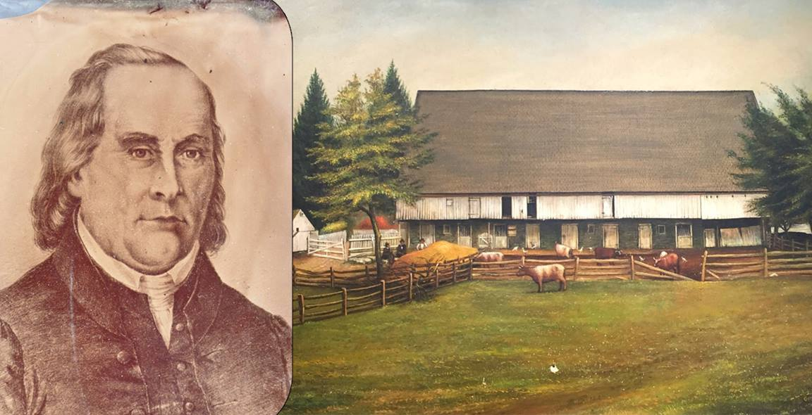 Otterbein is an important figure in United Methodist history. Otterbein image courtesy United Brethren Historical Center. Isaac Long's Barn, courtesy United Methodist Archives and History.