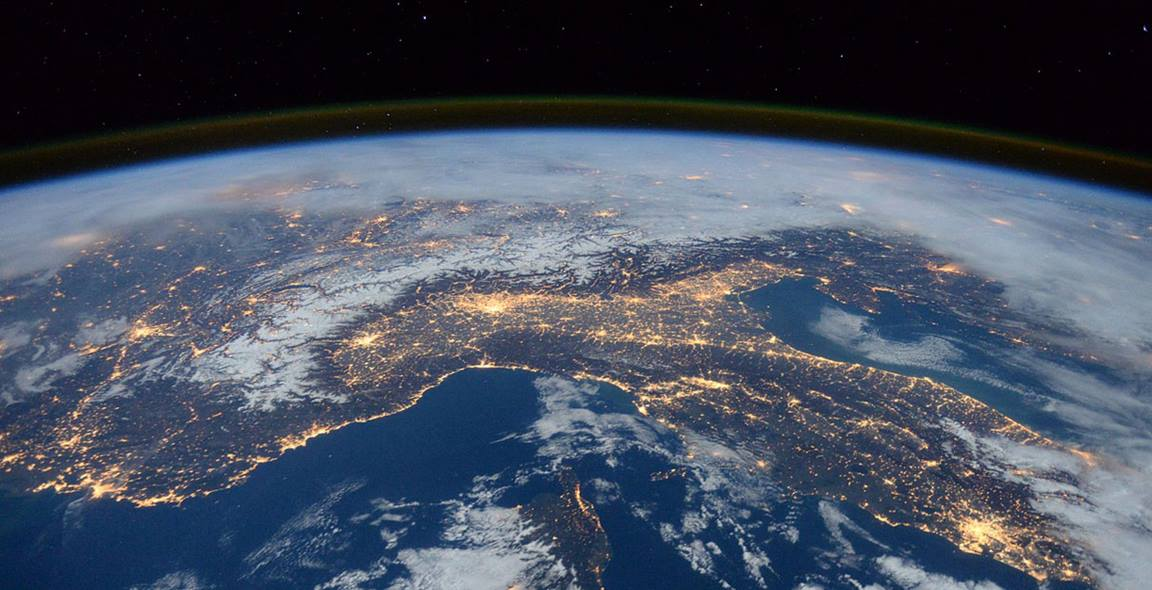 The earth as viewed from the International Space Station. Photo courtesy of Creative Commons.
