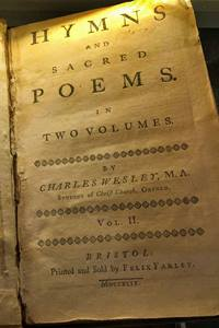 1749 edition of Hymns and Sacred Poems by Charles Wesley.