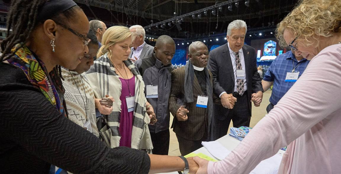 United Methodists celebrate our unity in the midst of our disagreements. Photo by Paul Jeffrey, United Methodist Communications.