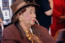 Dorothy Height, chairwoman of the National Council of Negro Women, received the Church Women United Human Rights Award during a presentation at the United Nations. Height, a longtime member of St. Mark's United Methodist Church in New York and resident of Washington, began her human and civil rights work on the national level in the 1930s. A UMNS 1999 file photo by John C. Goodwin.