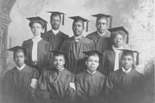 Historic photo shows African-American students. Courtesy of General Commission on Archives and History.