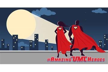Amazing UMC Heroes artwork by Troy Dossett, United Methodist Communications