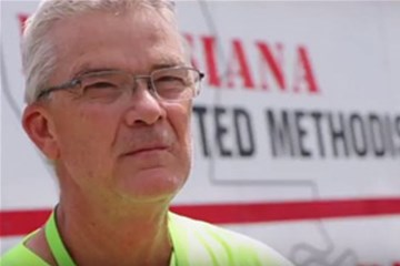The Rev. Bob Deich leads the Early Response Team for the Louisiana Conference of The United Methodist Church. Video image by Todd Rossnagel, Louisiana Conference.