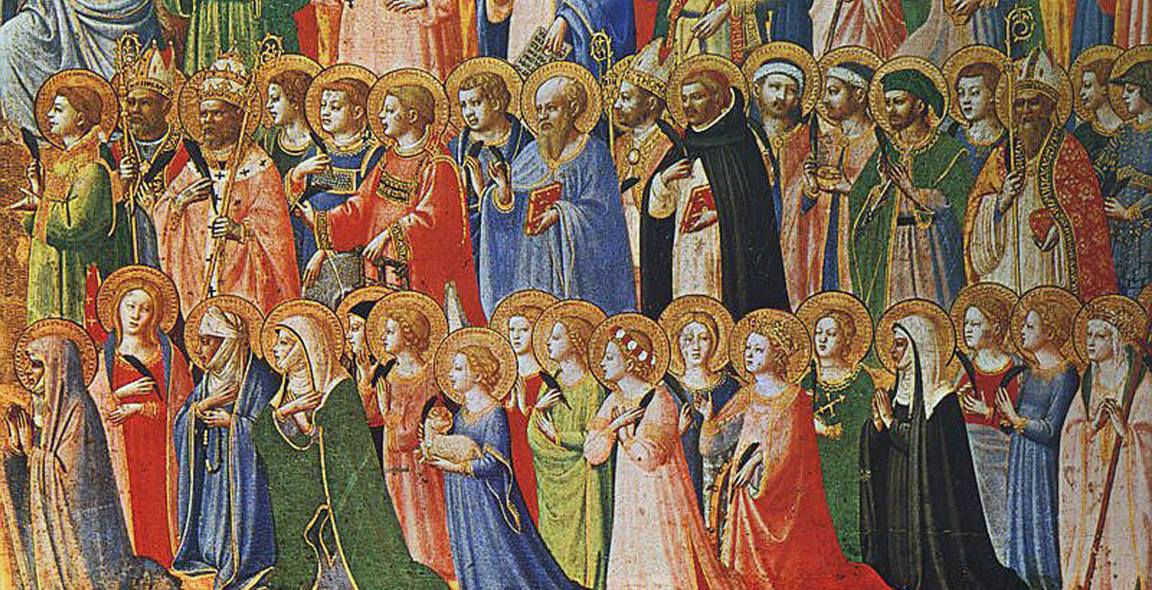 "On All Saints Day we remember those who have gone before us in the faith. ""All-Saints"" 15th century. Public Domain via Wikimedia Commons."