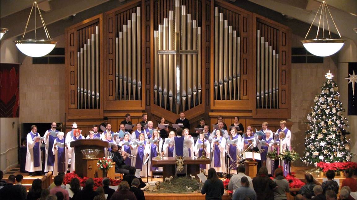 "The St. John's United Methodist Church Choir in Lubbock, Texas performs ""My Soul Gives Glory to My God."""