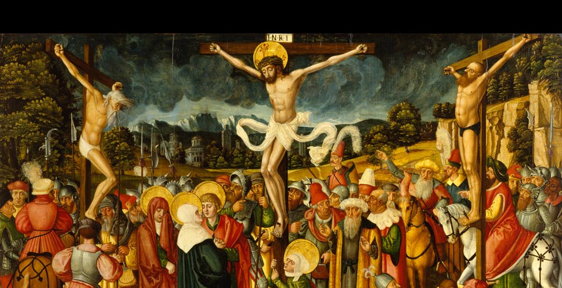 """Jesus prayed for forgiveness of those who were putting him to death. We are also to be forgiving. """"Crucifixion"""" by Peter Gertner, 16th century. Walters Art Museum, Public domain, courtesy Wikimedia Commons."""