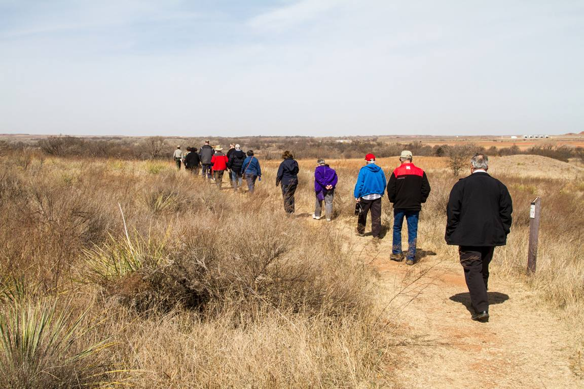 Participants in an immersion experience hosted by the Oklahoma Indian Missionary Conference visit the Washita Massacre site in Cheyenne, Okla., where Lt. Col. George Armstrong Custer led an 1868 attack against a Cheyenne encampment, killing 30 to 60 people. Photo by Ginny Underwood.