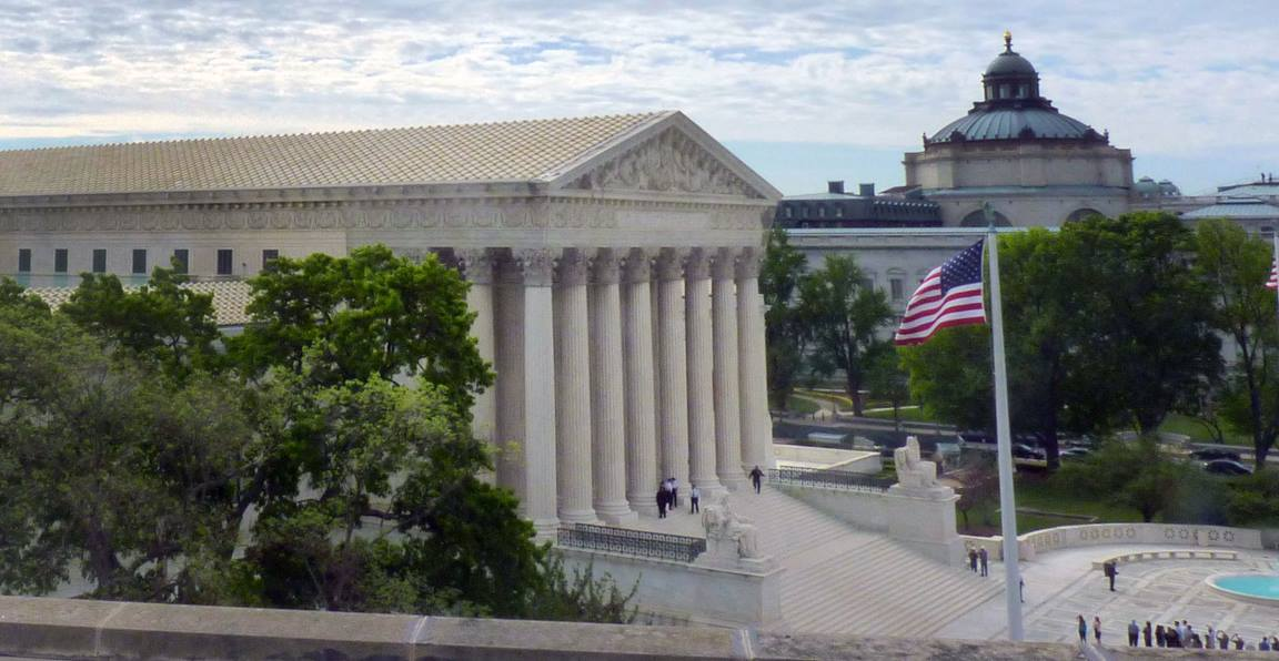 Image of the U.S. Supreme Court building in Washington, D.C. Photo by Clayton Childers, United Methodist Board of Church and Society.