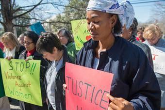 International Women's Day vigil, sponsored by United Methodist Women. Photo by Kristina Krug courtesy of United Methodist Women.