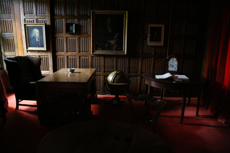 Una habitación en el Colegio Lincoln de Oxford está decorada como Juan Wesley la habría tenido. Wesley fue becario en el Colegio Lincoln desde 1726 hasta su matrimonio en 1751. Foto: Kathleen Barry, Comunicaciones Metodistas Unidas.