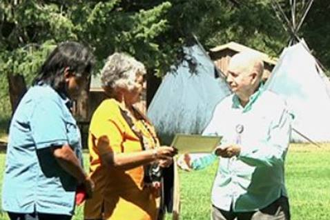 Wallowa Lake ceremony in Oregon honors return of land.