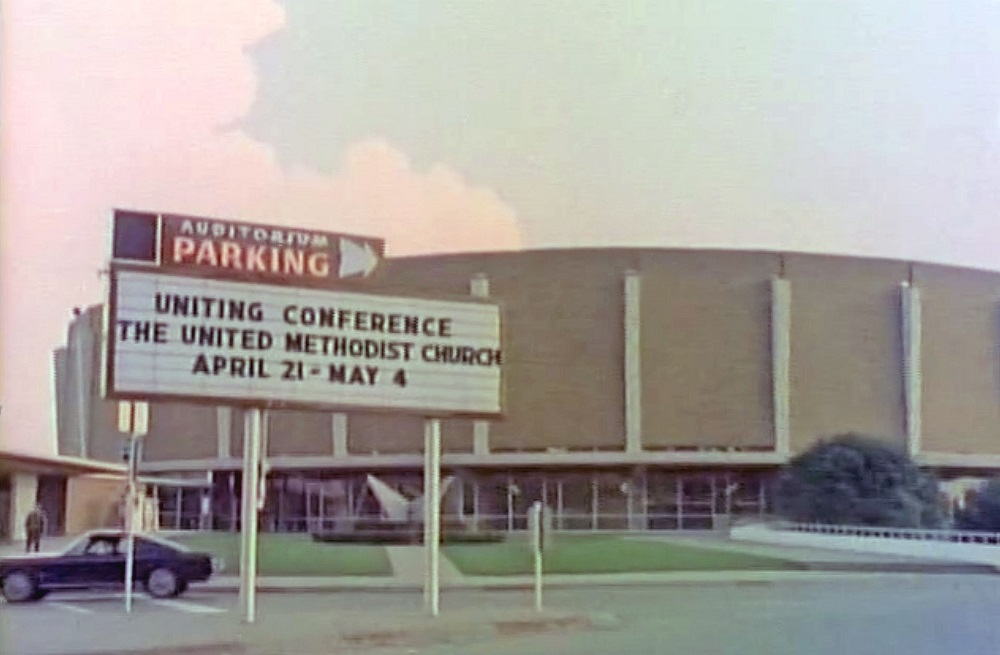 Sign for the 1968 Uniting Conference, image courtesy of General Commission on Archives and History.