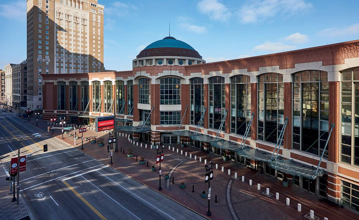 The 2019 special session of the General Conference will be held in The Dome, part of the America's Center Convention Complex in St. Louis. Photo by Dan Donovan, courtesy of the St. Louis Convention & Visitors Commission. All rights reserved.
