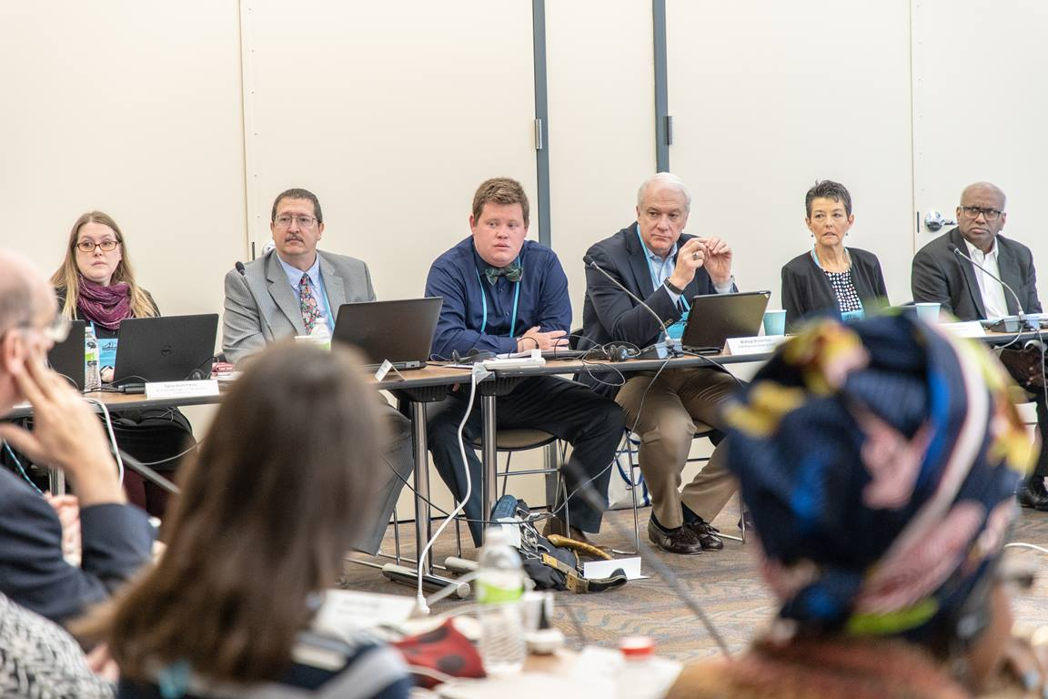 The Commission on the General Conference met in Des Moines, Iowa on May 10-11, 2018. Photo by Art McClanahan.