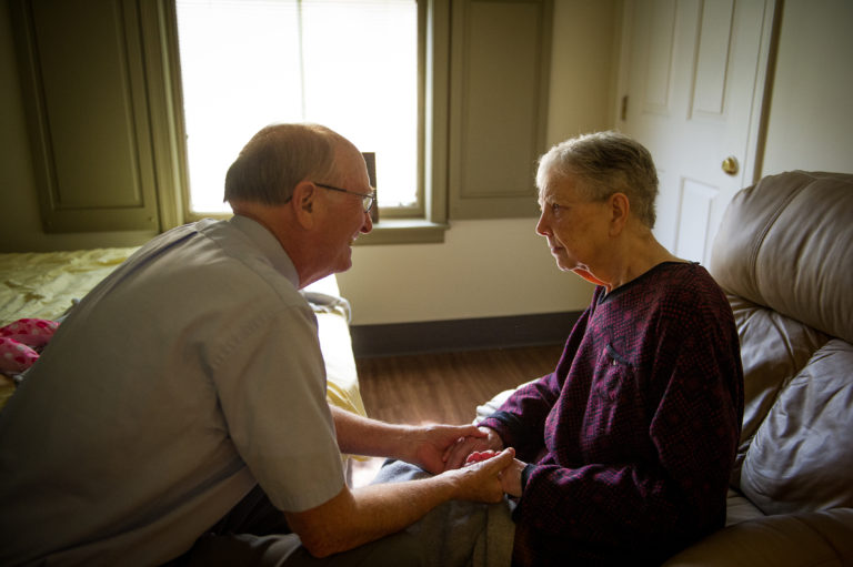 Retired Bishop Ken Carder (left) has written an Alzheimer's/dementia resource for others based on his experience of caring for his wife, Linda (right), since her diagnosis with frontal temporal dementia. Photo courtesy of the Tennessee Conference of The United Methodist Church.