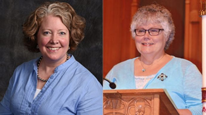Recipients Rev. Nancy Walton (L) and Rev. Karen Graham (R). Jolie not pictured. Images courtesy of Trinity United Methodist and the East Ohio Annual Conference.