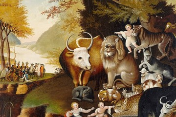 """In his Christmas message, Bishop Carter encourages the church to be a sign of God's peaceable kingdom, as shown in this famous painting by Edward Hicks titled """"Peaceable Kingdom."""""""