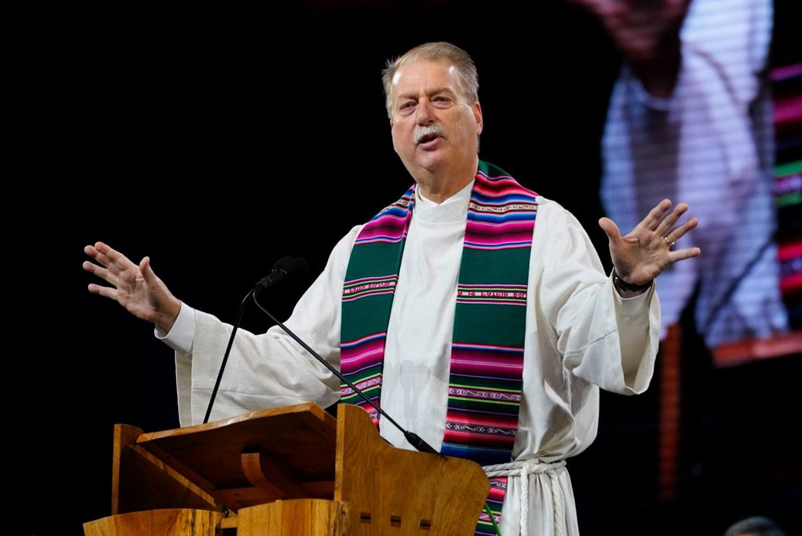 Council of Bishops President Bishop Kenneth H. Carter called on United Methodists to make every effort to maintain unity for the sake of God's mission at the Special Session of General Conference 2019 in St. Louis.