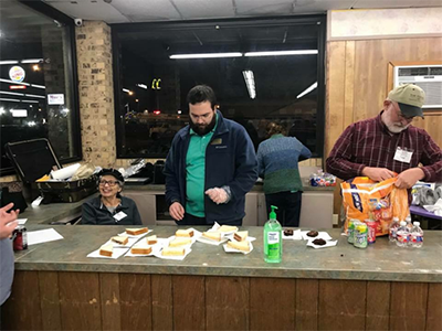 Members of Greers Chapel also provide food for those who need a fresh meal or a snack on laundry night. Photo provided by Dan Read.