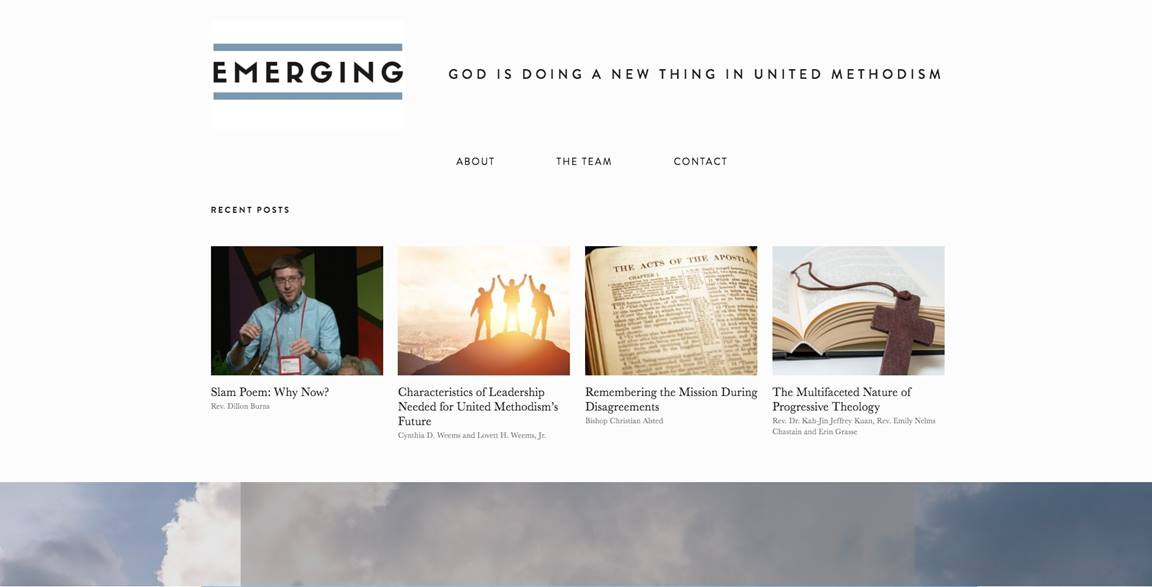 The Emerging website features content by United Methodists around the world, all reflecting on the future of our church. Image courtesy of Emily Clemons, Connectional Table.