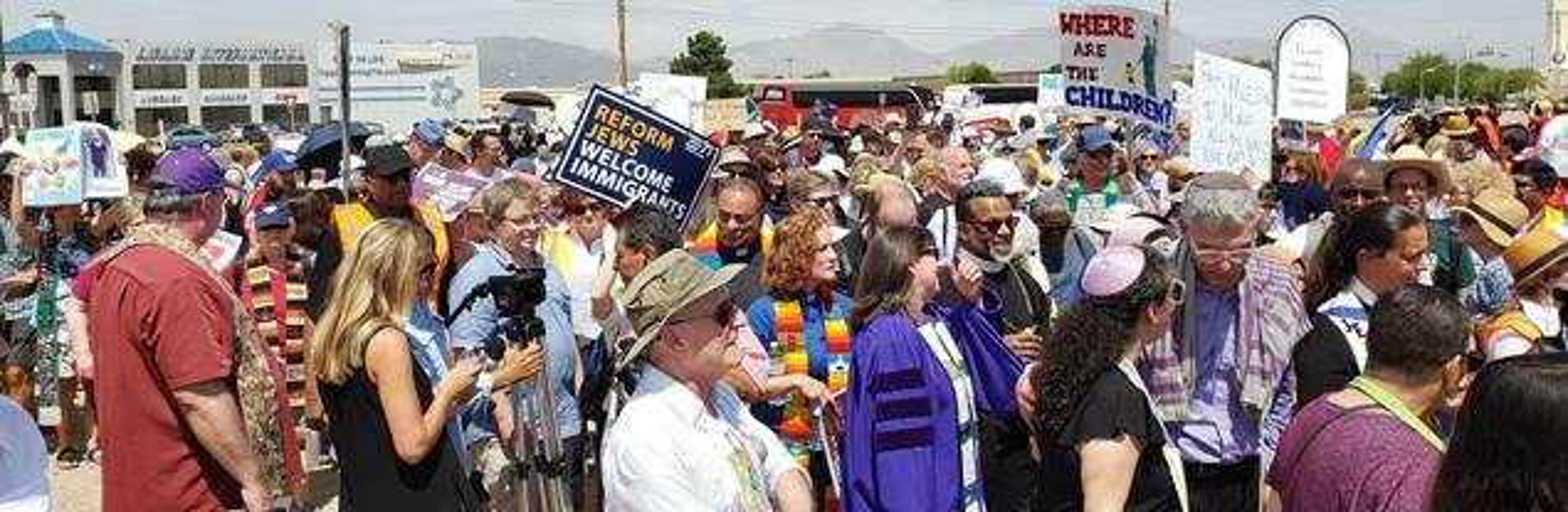 Moral Monday Demonstration at El Paso detention center