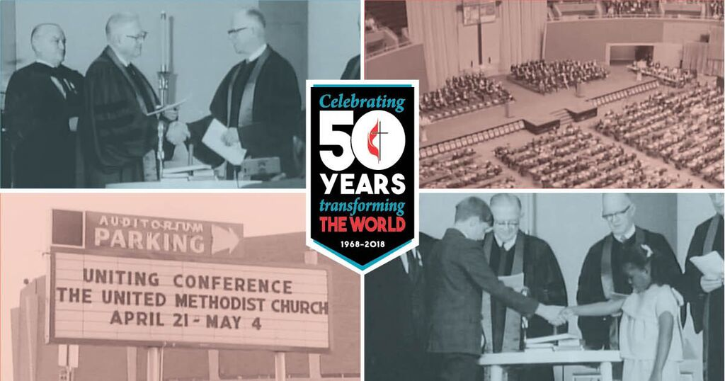 The United Methodist Church celebrates 50 years as a denomination in 2018. Artwork by Troy Dossett, United Methodist Communications.