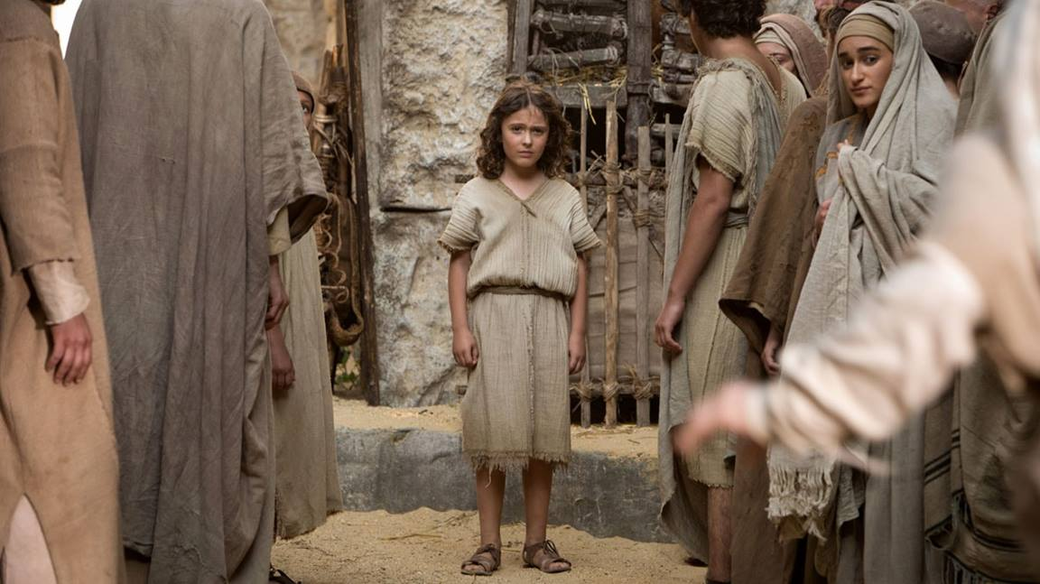 """Jesus confronts the Roman centurion Severus in this scene from """"The Young Messiah."""" 2016 Focus Features. All Rights Reserved. Used with permission."""