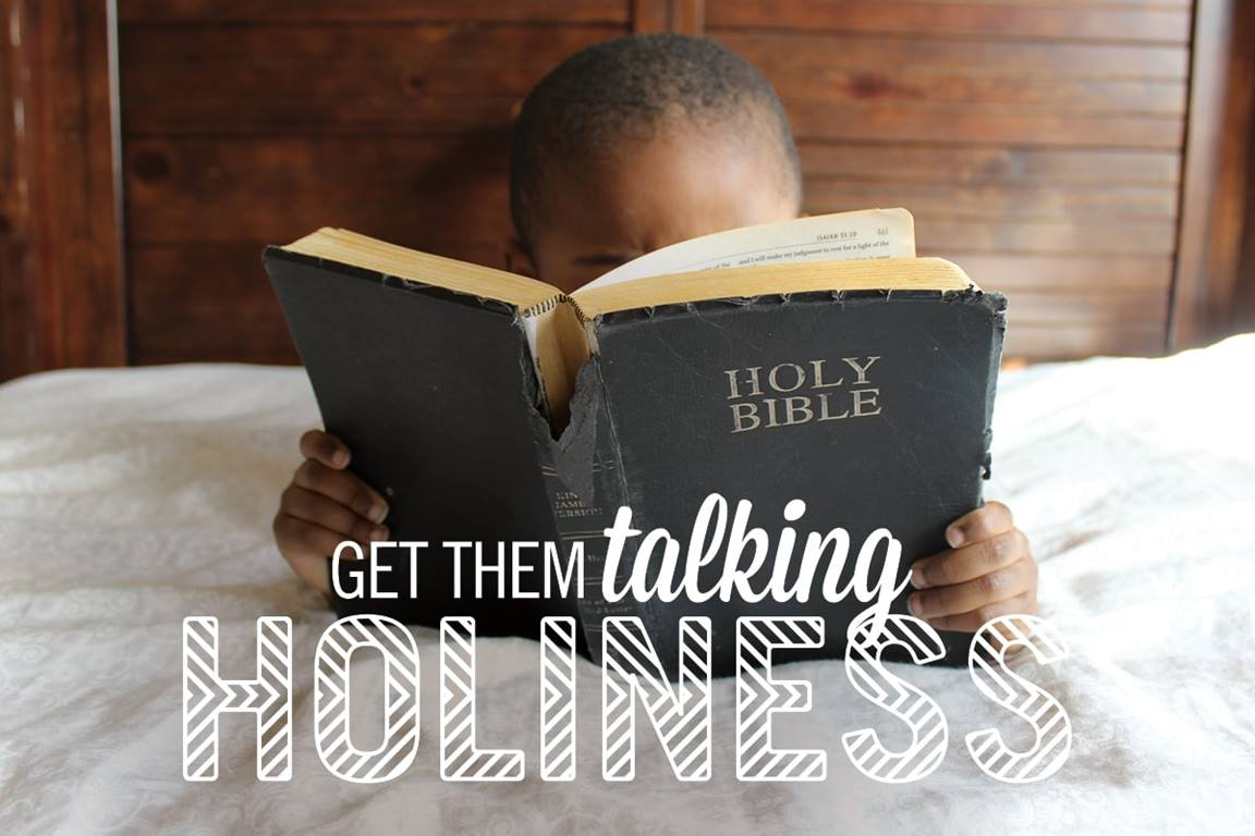 Read a scripture passage. Discuss some questions. Pray together. Find ways your family can help one another be more holy. Image by Sara Schork, United Methodist Communications.
