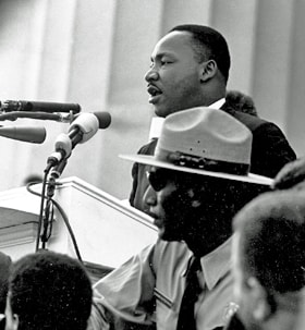 Through his life and ministry, Martin Luther King Jr. taught Ester and many others about love, justice and nonviolence. Photo via the U.S. National Archives.