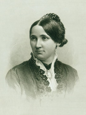 """First Lady Lucille """"Lucy"""" Ware Webb Hayes was a devout Methodist. She joined the president in saying prayers after breakfast and conducting hymn sings with members of Congress. Photo courtesy of United Methodist Commission on Archives and History."""