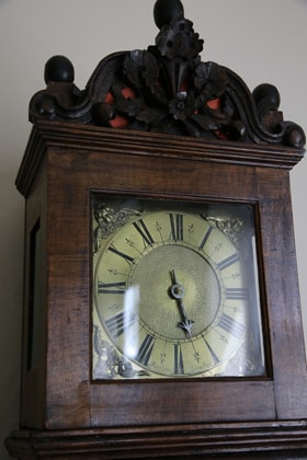 Susanna Wesley observed a strict schedule with times for education, naps, meals, and bedtime. This clock, once owned by John Wesley, is on display at the Wesley family home in Epworth, England. Photo by Kathleen Barry, United Methodist Communications.