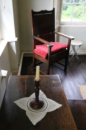 A quiet spot upstairs in the Wesley family home may have been a place where family devotions were held. Photo by Kathleen Barry, United Methodist Communications.