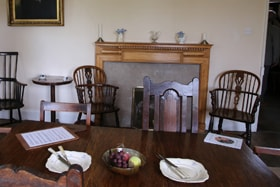 Mealtime was a time for the family to gather in the dining room of the Old Rectory, the Wesley family home in Epworth, England. Photo by Kathleen Barry, United Methodist Communications.
